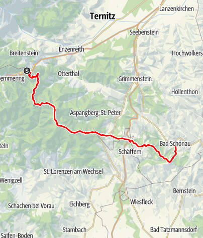 Mapa / Alpannonia® - grenzenlos weit wandern