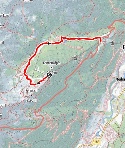 Carte / Erlebnisweg Schlickeralm und Schaukäserei