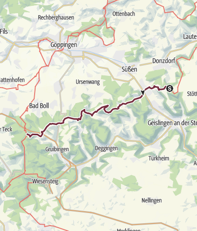 Karte / Albsteig (HW1) – Etappe 7 – Von Bläsiberg nach Owen
