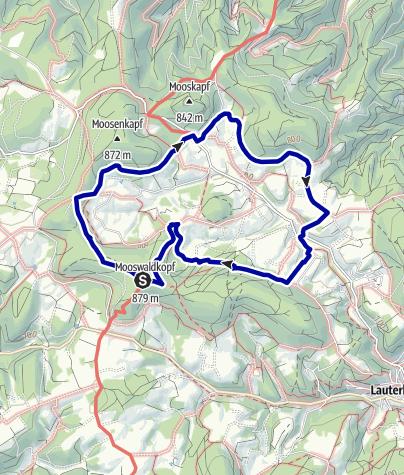 Karte / Paradiestour Lauterbacher Hochtalrunde