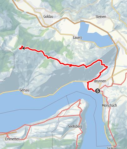 Karte / Etappe: Brunnen - Rigi-Scheidegg | Schwyzer Tal- & Gipfeltour