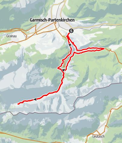 Map / Von Garmisch ins Reintal