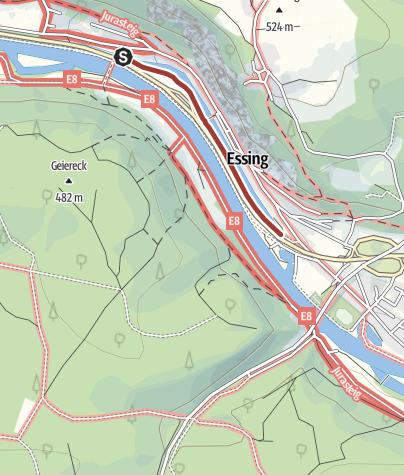 Map / Kunstweg an Fels und Fluss