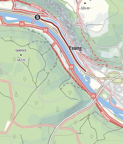 Karte / Kunstweg an Fels und Fluss