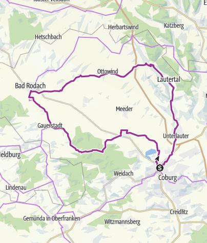 Karte / Sulzbach- Lautertal Rundfahrt