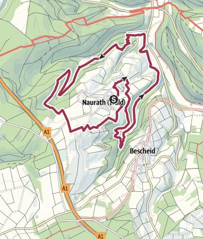 Karte / Traumschleife Fünf-Täler-Tour