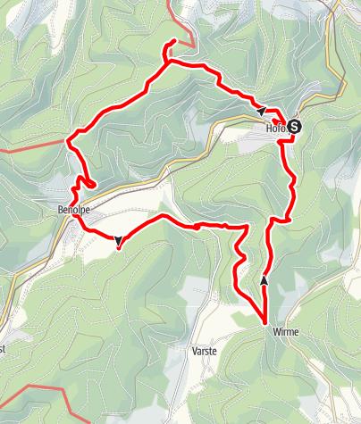 Karte / Hofolpe: Über Berg und Tal  (Hohe Bracht, Benolpe, Mark . . . .)