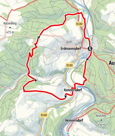 Karte / Großer Rundweg Erdmannsdorf