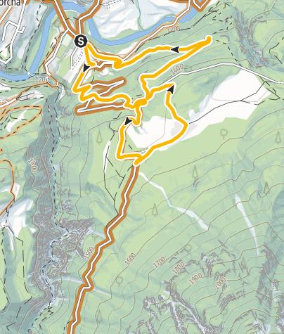Karte / Kurze Tour mit Singletrail: Scuol - San Jon - Scuol