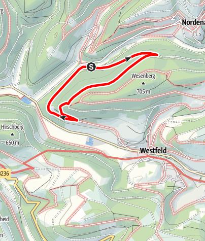 Karte / Rundweg vom Wanderparkplatz Lengenbeck (A7)