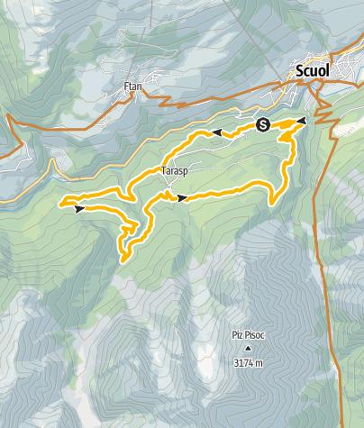Map / Vulpera - Tarasp - Lai Nair - Vulpera