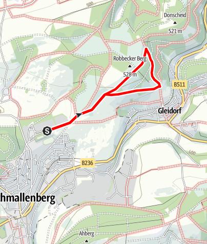 Karte / Rundweg vom Wanderparkplatz Robbecke, Schmallenberg (A3)
