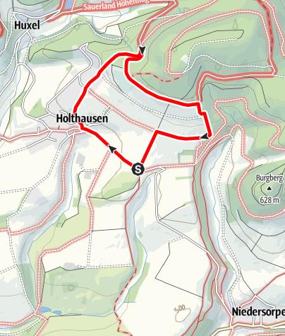 Map / Rundweg vom Wanderparkplatz Lüttmecke, Holthausen (A6)