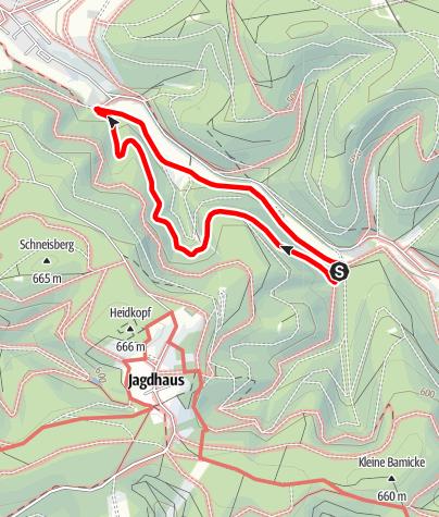 Karte / Rundweg vom Wanderparkplatz Waidmannsruh (A2)