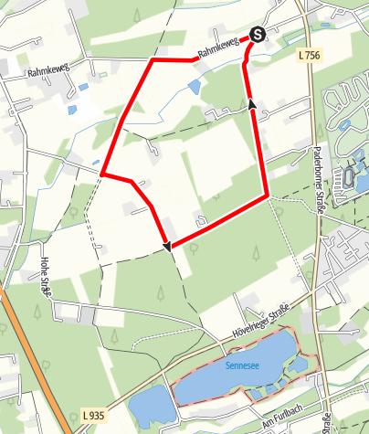 Karte / B2: Boßeln am Stallfeld in Stukenbrock