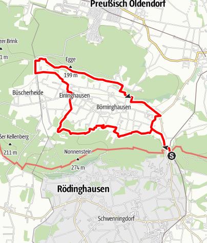 Karte / Eggetaler Panorama Rundwanderweg