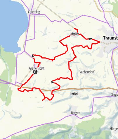 Karte / Grabenstätter Kapellen-Radweg