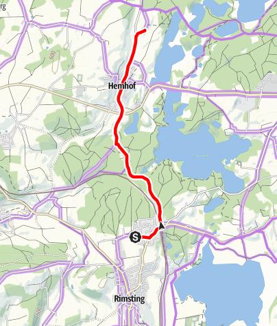 Karte / Radtour nach Hemhof und Stephanskirchen