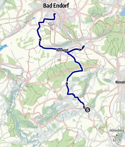 Karte / Wandern zwischen Chiemsee und Simssee