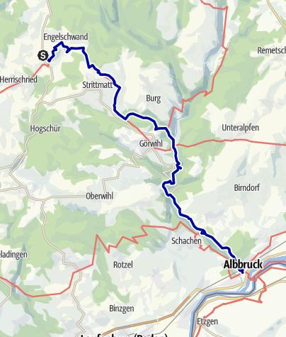 Karte / Vom Gugelturm zur Albschlucht