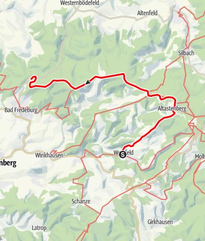 Kaart / 2. Etappe - 4 Top-Wege in 3 Tagen