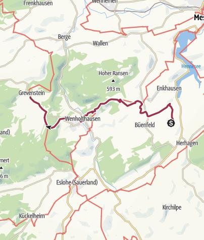 Kaart / Mescheder Höhenwanderweg - Etappe 1 (M)