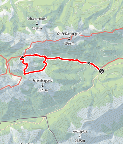 Karte / Bergtour - Hasentalkopf