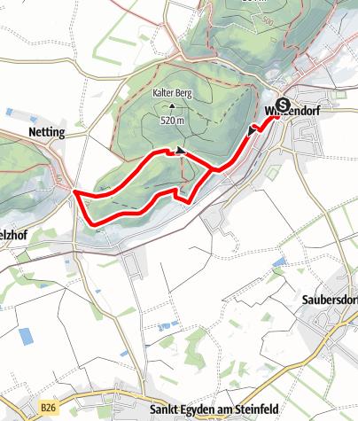 Térkép / Winzendorf Rundwanderweg A, Rund um den Schlossberg (Dachenstein)