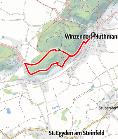 Mapa / Winzendorf Rundwanderweg A, Rund um den Schlossberg (Dachenstein)