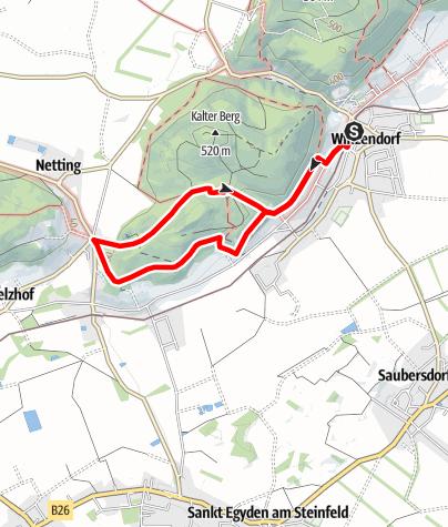 Map / Winzendorf Rundwanderweg A, Rund um den Schlossberg (Dachenstein)