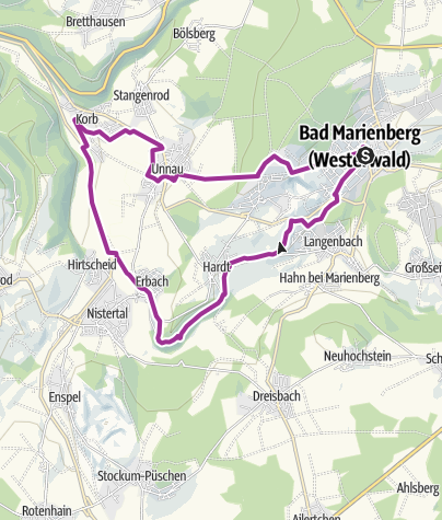 Karte / Bahntrassen Tour