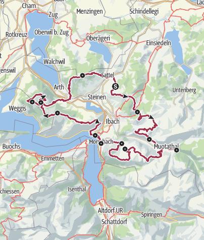Karte / Schwyzer Tal- und Gipfeltour