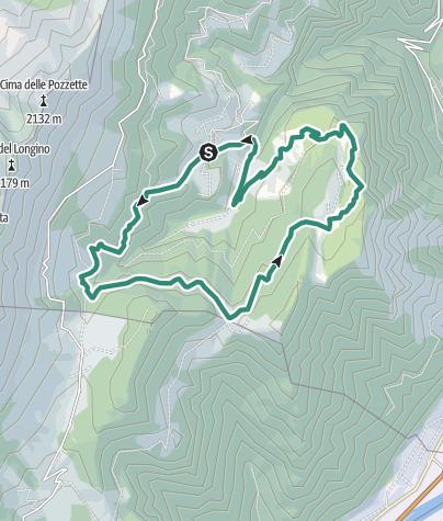 Cartina / Giro delle Malghe a Madonna della Neve