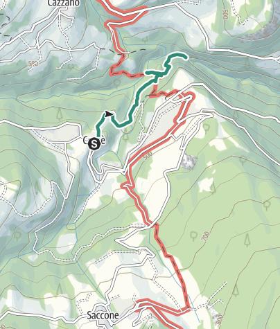 Cartina / Escursione alla forra del torrente Sorna