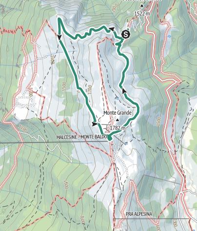 Cartina / Il sentiero del Ventrar