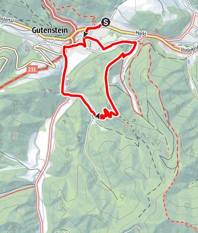 Karte / Kaisersteig Rundwanderweg Gutenstein