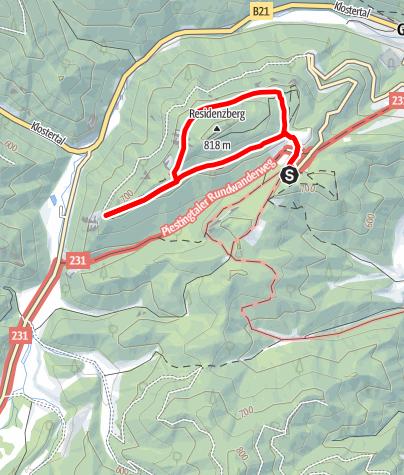 Térkép / Kreuzweg am Mariahilfberg - Gutenstein