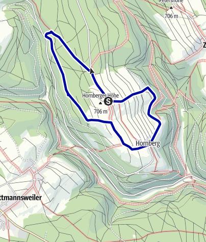 Karte / Luftige Höhen in Hornberg