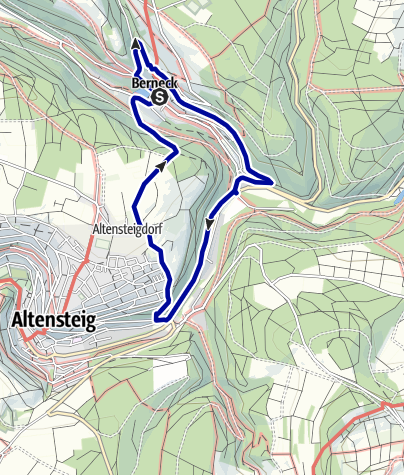 Karte / Das Köllbach- und Bruderbachtal