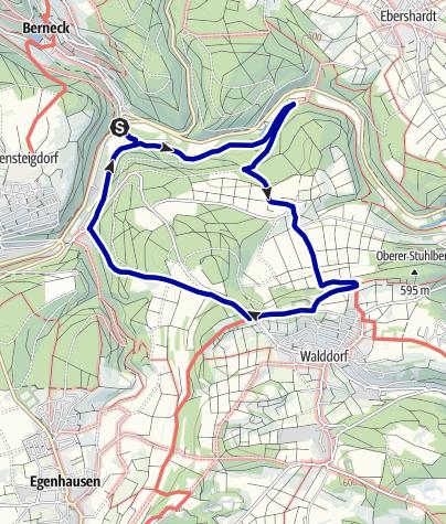 Karte / Urige Rundwandung um Monhardt
