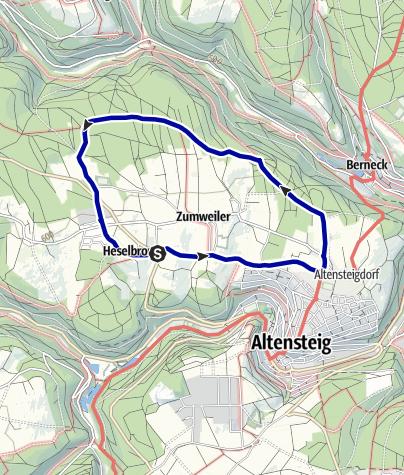 Karte / Hochebene um Überberg und Altensteigdorf