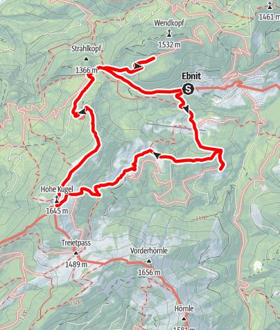 Map / Alpine Pasture Hike l Dornbirn-Ebnit - Hohe Kugel