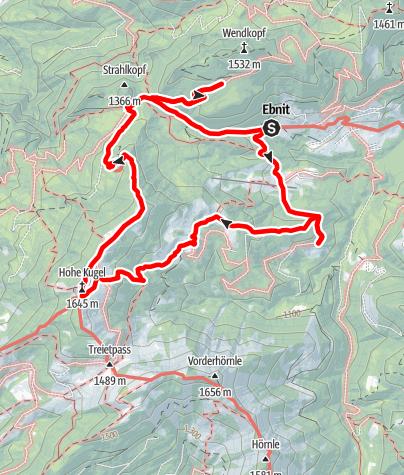 Karte / Alpwandern l Dornbirn-Ebnit - Hohe Kugel
