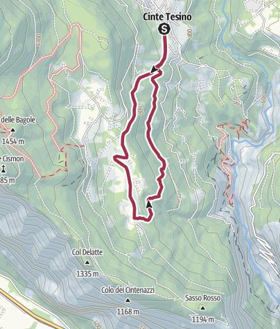 """Cartina / Passeggiata """"Sentiero dell'Olivè"""""""