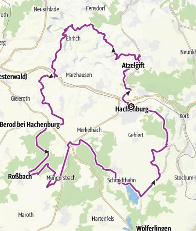 Karte / Radrundweg Hachenburger Westerwald