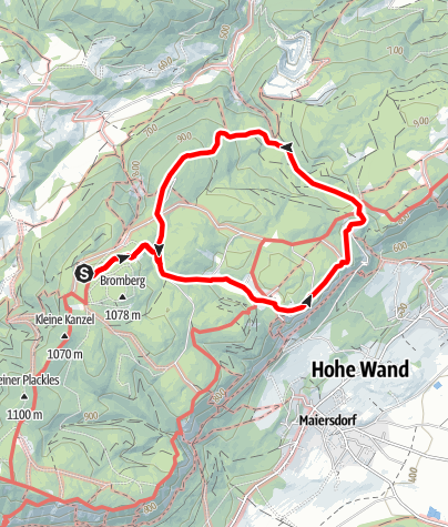 Karte / Naturpark Hohe Wand - Ötscher Blick