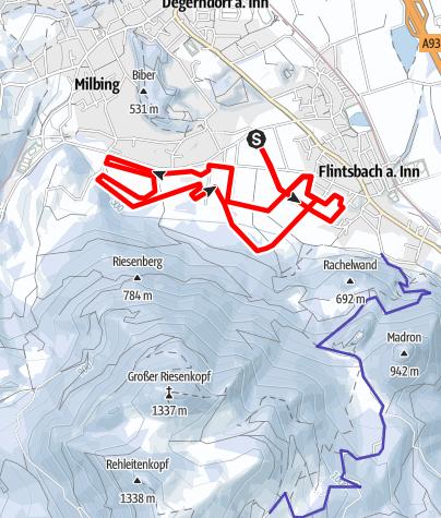 Karte / Brannenburg/Flintsbach a. Inn - Riesenberg-Loipe