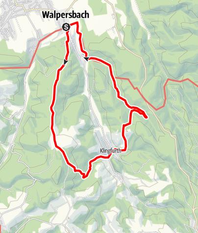 Karte / Walpersbacher Rundwanderweg (WA 1)