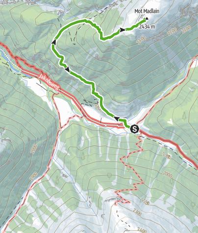 Map / S-charl - Mot Madlain (Rundweg)