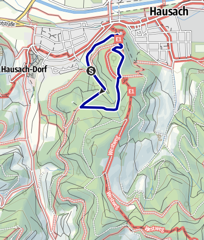 Karte / Abenteuerpfad Hausach